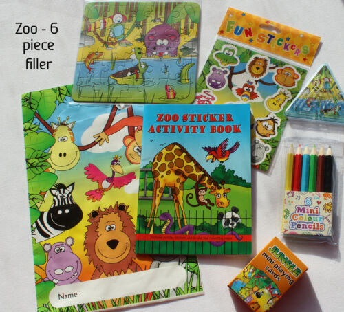 boxes Zoo//Jungle pre-filled children/'s party bags