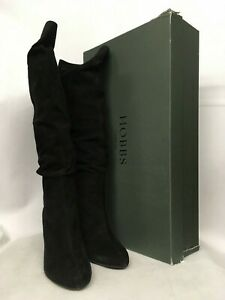 Various Sizes Hobbs Tilda Fine Suede Black Boots RRP £179.