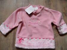 TOM KID´s schönes Sweatshirt rosa m. Fell Gr. 18 Mon / 81 NEU ST817