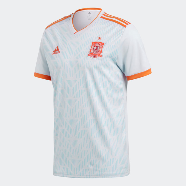 adidas Men's Spain Away Jersey World Cup 2018 Size Small Br2697