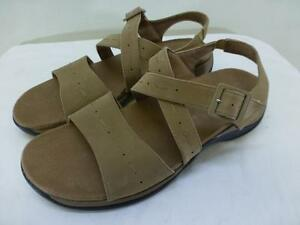 4e44ce753eaf Image is loading Clarks-Springers-88767-brown-leather-SANDALS-shoes -slingbacks-