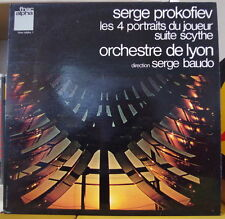 SERGE BAUDO/PROKOFIEV LES 4 PORTRAITS DU JOUEUR FRENCH LP FNAC ALPHA 1974