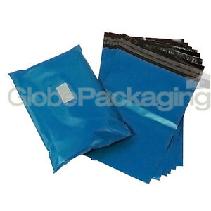 "10 x Strong METALLIC BLUE 5x7"" Mailing Postal Postage Bags 5""x7"" (120x170mm) 5055502376660"