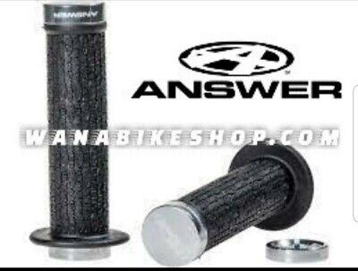 Answer Bmx Lock-On Grips 130mm Black//Hi Viz