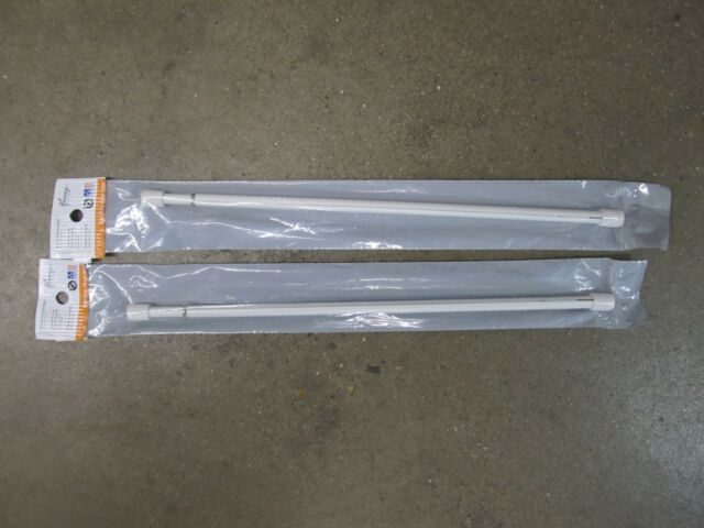 NEW Basic White Oval Utility Adjustable Length Spring Tension Rod