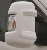 Milenco Motorhome Mirror Bump Protectors X2 White - Fits Boxer, Ducato & Relay