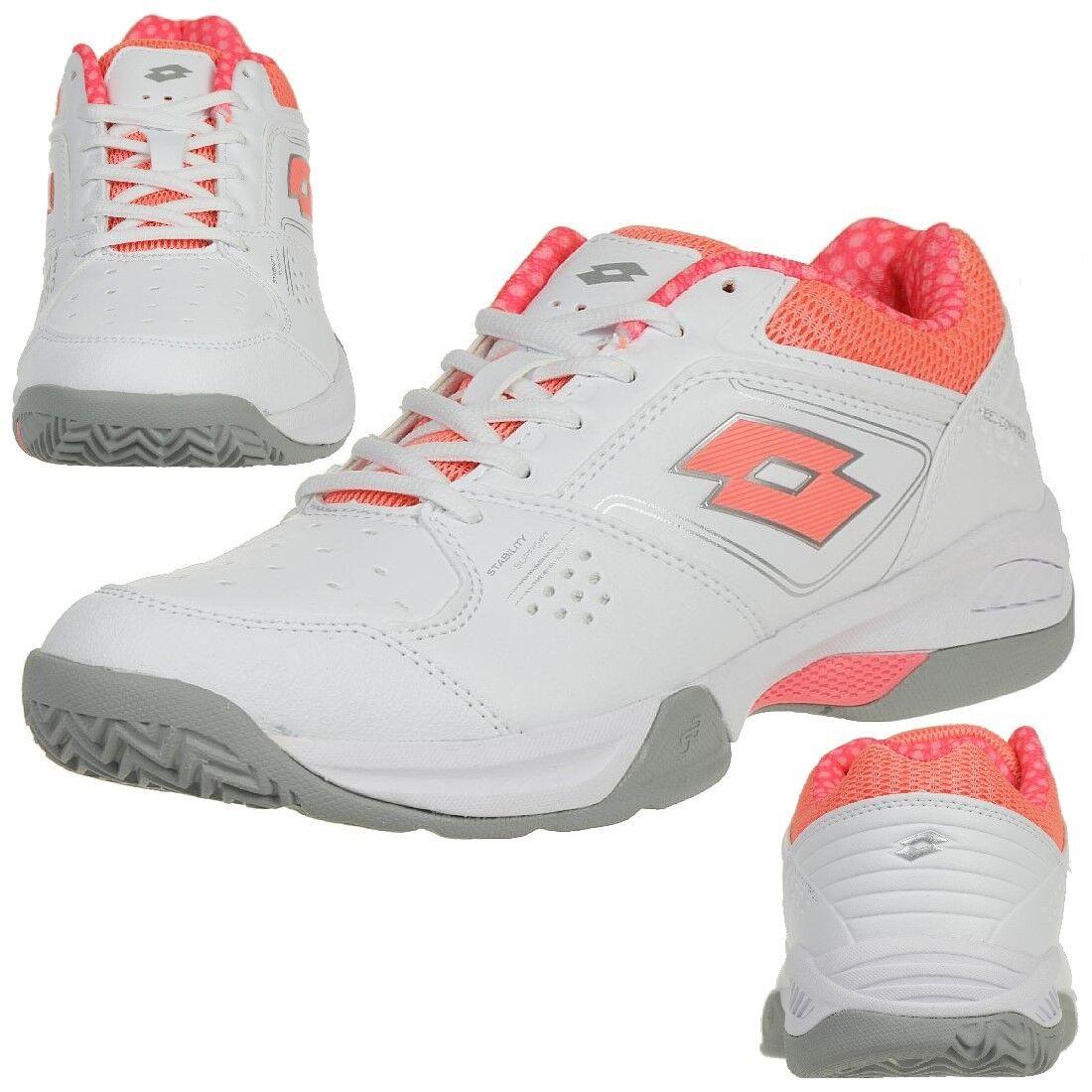 Lotto T-Tour 600 Xi W Ladies Multicourtschuh Tennis White Pink T6424