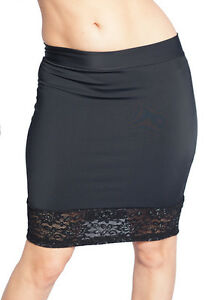e4869ad79da Plus Size Black Mini Skirt With Lace Bottom. Sexy Style Up To 44 ...