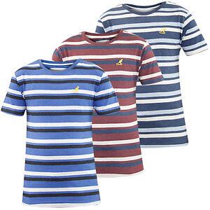 Nouveau-homme-marque-kangol-yarn-dyed-stripe-t-shirt-a-encolure-ras-du-cou-casual-fashion-top