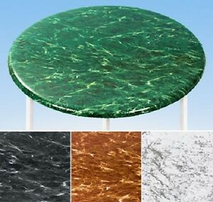 New Fitted Marble 36 Quot 48 Quot Round Vinyl Table Cover
