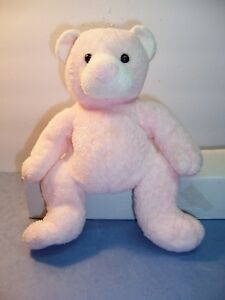 e93c21a16d1 TY BABY PLUFFIES -- PUTTER -- PINK BEAR -- 2003 -- RARE EXTRA LABEL ...