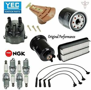 details about tune up kit with cap rotor spark plugs wire set for toyota  tercel l4