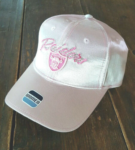 Oakland Raiders Pink Women/'s Adjustable Baseball Hat NWT