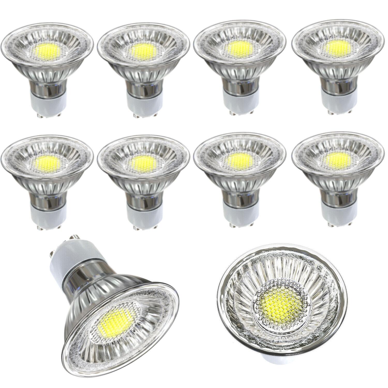 10x LED COB GU10 3W 4W 5W 6W Licht spot dimmbar Spot Strahler Kaltweiß Warmweiß