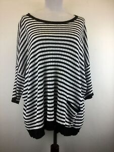 c4a68f5d431 Eileen Fisher XL X Large Blouse Boxy Top Sweater 100% Linen Black ...