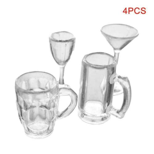 Dollhouse miniature 4 peaces drinking glass set in 2019 1:12 scale X0Y5