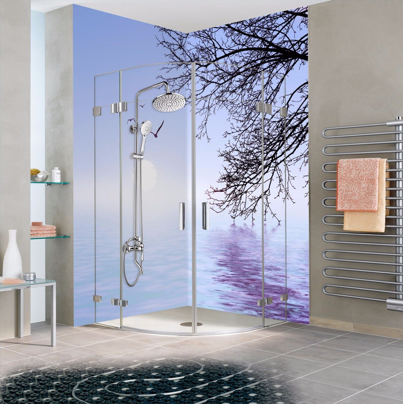 3D Lakes 7110  WallPaper Bathroom Print Decal Wall Deco AJ WALLPAPER AU