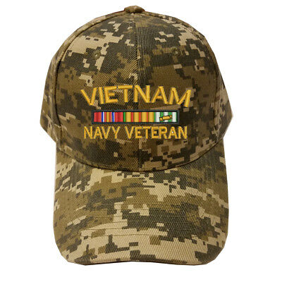 MILITARY BASEBALL CAP HAT VIETNAM NAVY VETERAN RIBBON