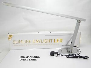 Manicure nail table lamps slimline daylight led office lamp led image is loading manicure nail table lamps slimline daylight led office mozeypictures Image collections