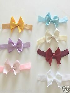 Baby-Girl-Bow-Headband-Satin-Bow-Soft-Elastic-Band-Variety-Hair-Accessories-Lot