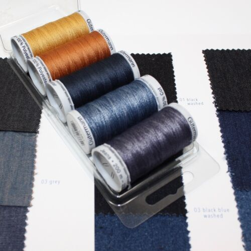 lovely gift Gutermann Jeans Sewing Thread Selection Yellow Denim Blue
