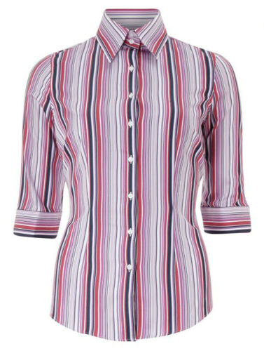 Street Bnwt Stripe multi Jermyn Shirt Pink Ladies wnd8dqBf