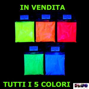 Poudre Pigment Luminescent Fluorescent 5 Couleurs De 20/50/100 Grammes Tous