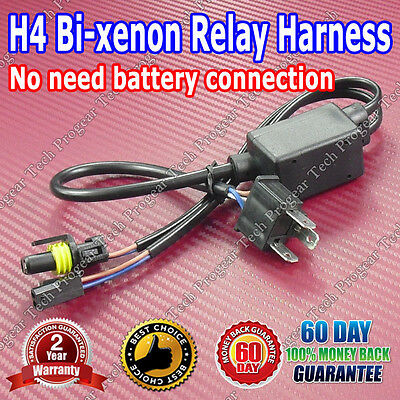 2007-2016 Honda Fit H4 Bi Xenon AC 35W Digital Slim HID Conversion Kit W-Relay