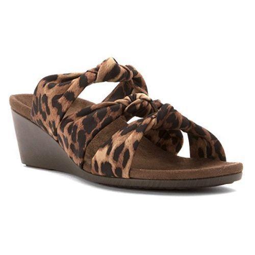 Vionic Orthaheel Sandales Damenschuhe Park Rizzo Wedge Sandales Orthaheel Tan Leopard Schuhe Größe 7 M ae9dd5