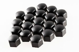 Set-of-20-17mm-Car-ABS-Plastic-Caps-Bolts-Covers-Nuts-Alloy-Wheel-Black