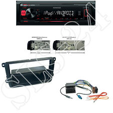 Kenwood KMM-202 USB Radio +VW Passat B6/B7 CC 3C Blende Quadlock ISO Adapter
