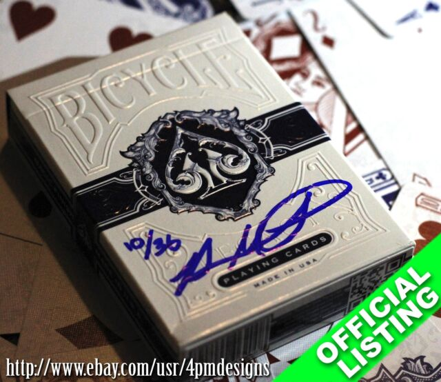 Bicycle Legacy from 1 of 36 Signed & Numbered BLUE Playing Cards
