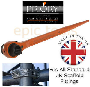 PRIORY-Straight-19mm-21mm-7-16w-Scaffold-Scaffolders-Podger-Ratchet-Spanner