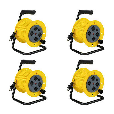 Alert Stamping 7140A Professional Multi-Outlet Manual Wind-Up Reel w//Circuit Breaker