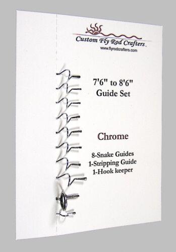 Chrome Snake Guide Set for Fly Rods