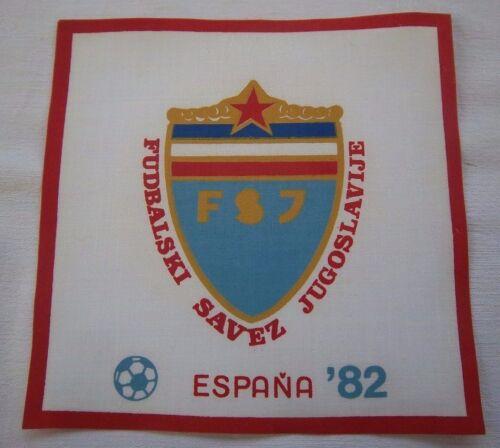 TOP Orig.Aufnäher  WM SPANIEN 1982 // Teilnehmer JUGOSLAWIEN 14,5 x 14,5 cm !
