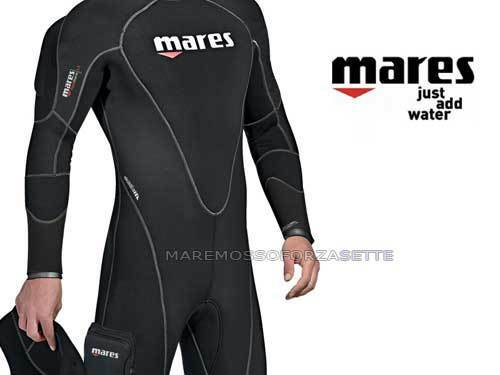 WETSUIT DIVING 6,5mm SEMIDRY MARES FLEXA THERM 3 MEDIA
