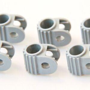 Technic-Steering-Gear-Holder-Genuine-Lego-Part-2790-Brand-New-GREY-6-PIECES