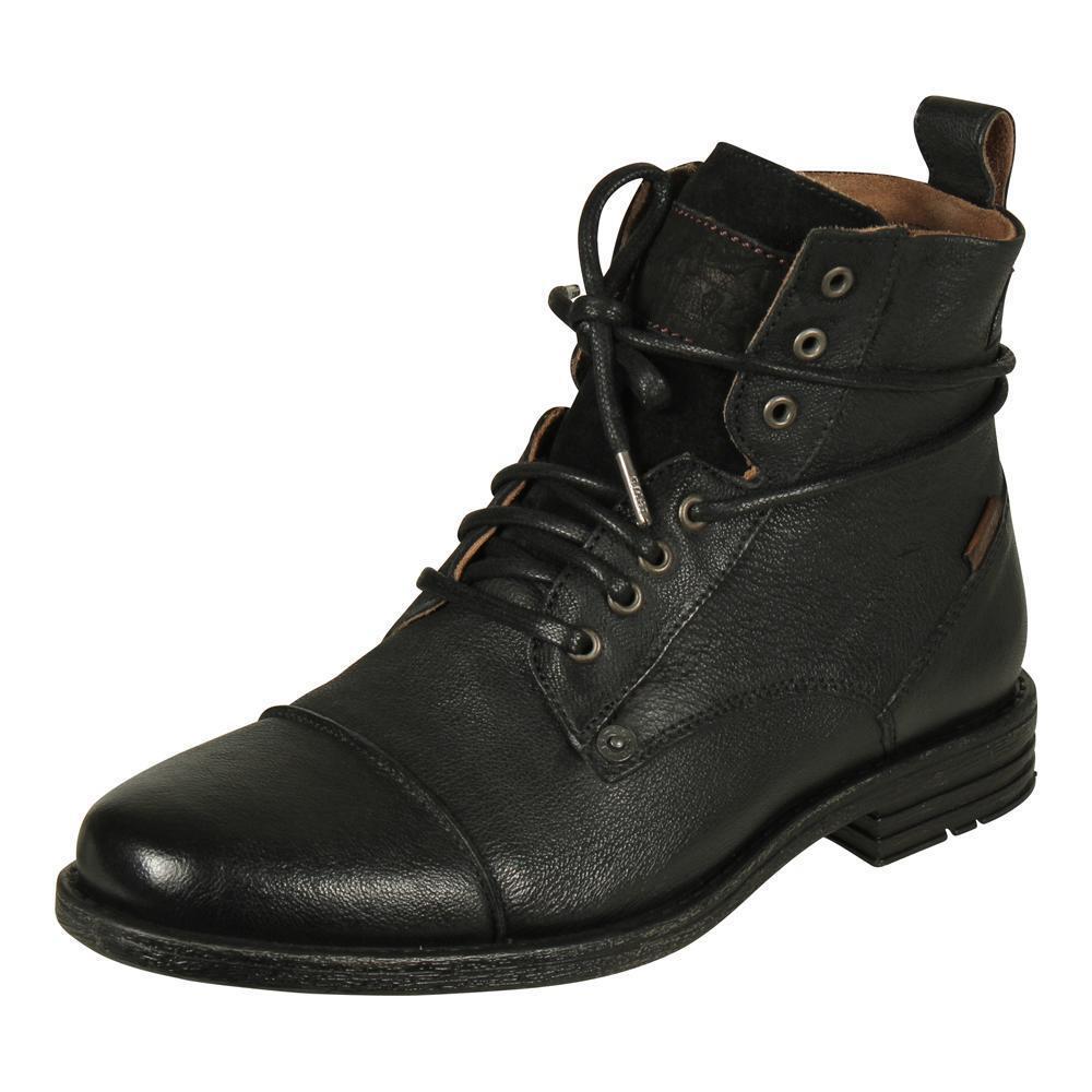 Levi's Herren Leder Stiefel Emerson Lace up Boots Schuhe Stiefeletten schwarz