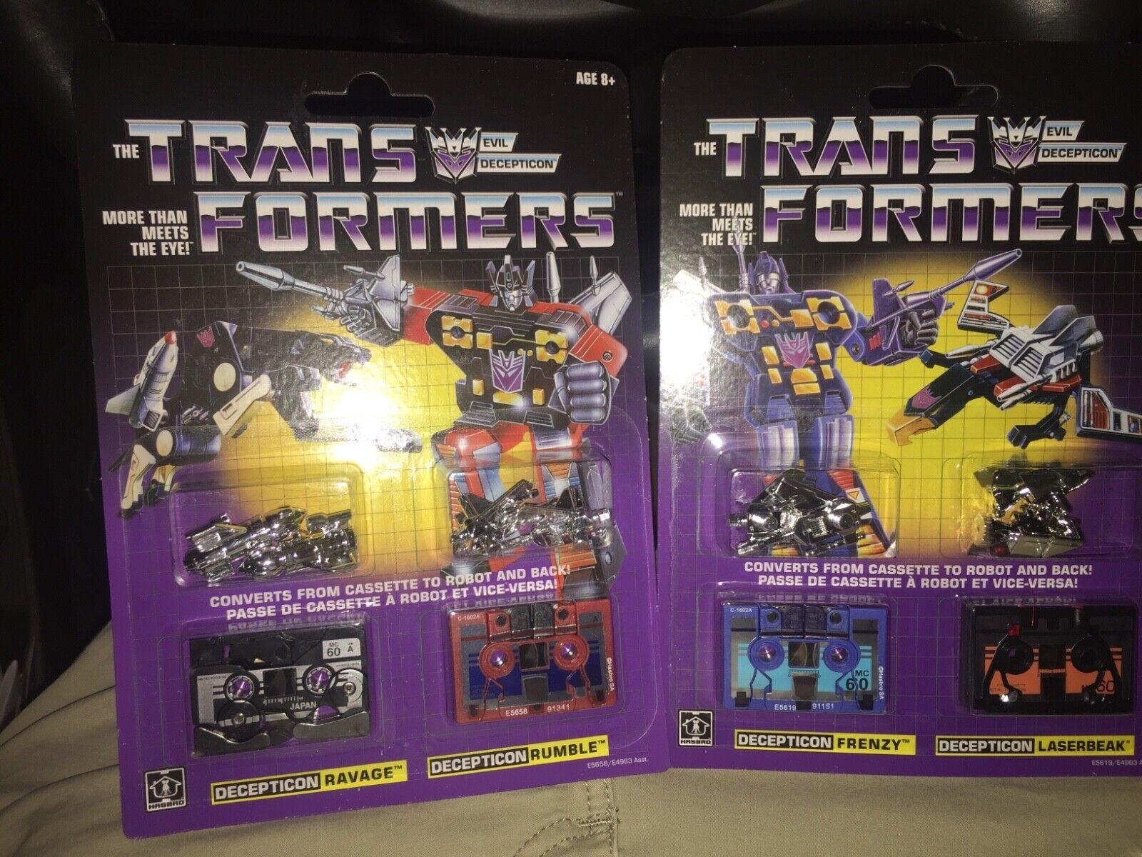 Transformers G1 Ravage, Rumble, Frenzy & Laserbeak cassettesEXCLUSIVESLAST ONE