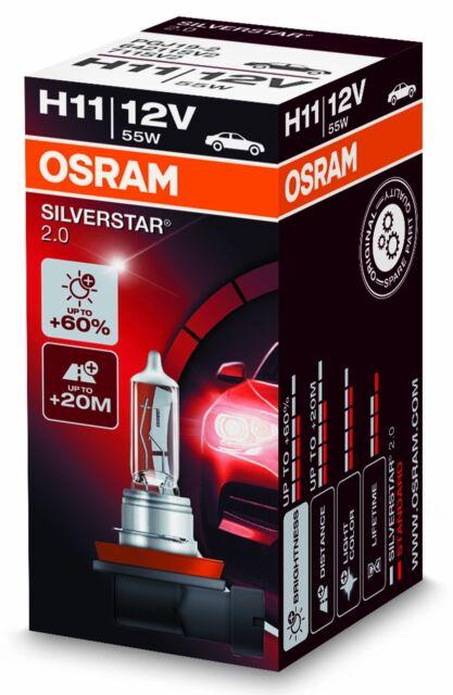 OSRAM H11 55 Watt Silverstar 2.0 64211SV2 PGJ19-2 Birne Scheinwerfer Glühbirne