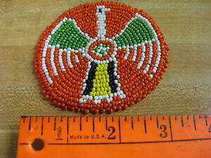 3 Inch Beaded Rosette Bead Bead Work Craft Non Native Sew On Red