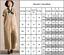 Damen-Leinen-Baggy-Overall-Jumpsuit-Freizeit-Breites-Bein-Lange-Hosenanzug-46-48 Indexbild 3
