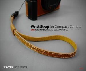 Lim-039-s-Camera-Genuine-Leather-Wrist-Strap-Hand-Grip-Light-Brown-Leica-Sony-DSLR