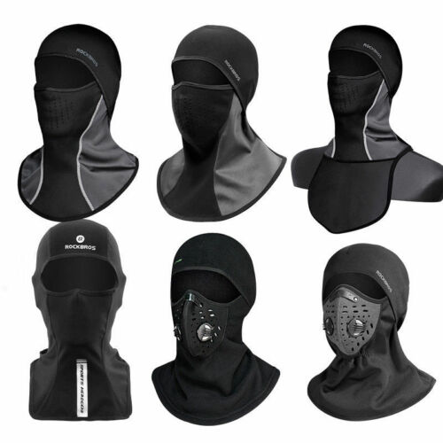 ROCKBROS Winter Cycling Thermal Face Mask Outdoor Sporting Cap One Size Black