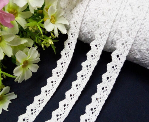 5 yard Vintage White Cotton Crochet Lace Trim Wedding Bridal Ribbon Sewing Craft
