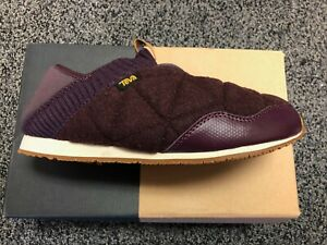Teva-Women-039-s-Ember-Moc-Shearling-Quilted-Wool-Shoes-Slip-Ons-Size-7-8-9-10