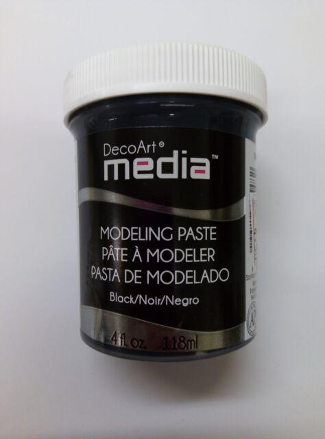 DecoArt Media Black Modeling Paste textured mixed craft art 4 fl oz stenciling