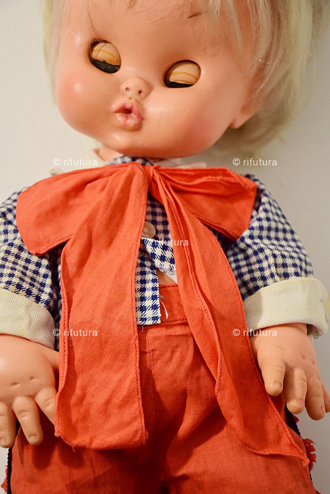 Bambola vintage'60 vintage'60 vintage'60 Furga Modestino Fanny Giuntoli Vinile 38cm Abiti original-1RS 7918b5