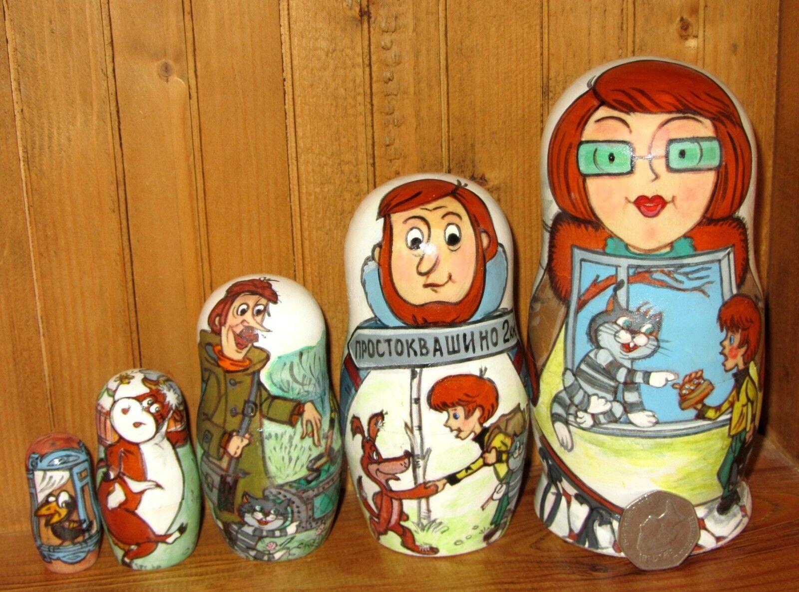 Russian Nesting Doll Matriochka conte de fées Prostokvashino Feodore Matroskin 5